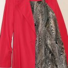 Pink Belted Trench Coat With Zebra Lining From Ellen Tracy