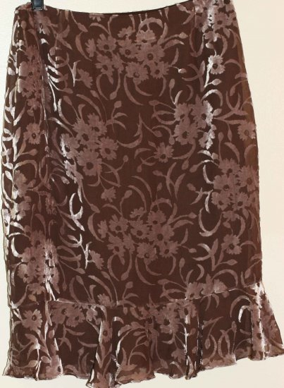 Silk and Velvet Skirt