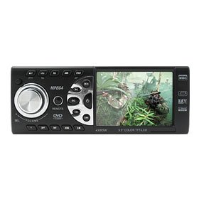 "Car 3.5"" Wide TFT In-DASH DVD Player with TV FM Tuner USB SD MMC Card Player"