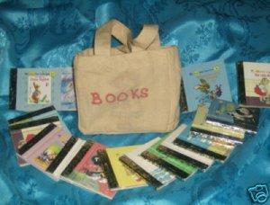 Vintage 1946-70 Miniature Little Golden Books & Bag 15 pc set