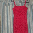Vintage 70s Red LA BELLE MINI COCKTAIL FORMAL DRESS sz 3