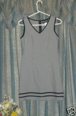 Vintage 70s All That Jazz sleeveless check mini sz 5/6