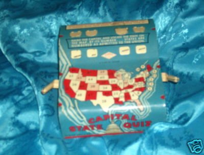 Vintage 1950s Educationa State Game by WOLVERINE MFG CO