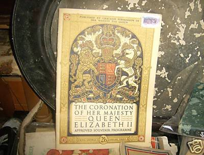 VINTAGE ANTIQUE 1953 CORONATION HER MAJESTY ELIZABETH 2