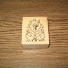 PSX Ornate Decoration Wood Mounted Rubber Stamp E-3601 Retired Collectible