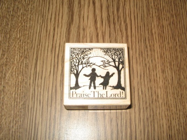 PSX Praise The Lord Wood Mounted Rubber Stamp E-933 Retired Collectible