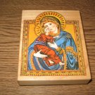PSX Mary & Baby Jesus Wood Mounted Rubber Stamp CK-3529 Retired Collectible