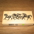 PSX Wild Horses Wood Mounted Rubber Stamp K-1806 Retired Collectible