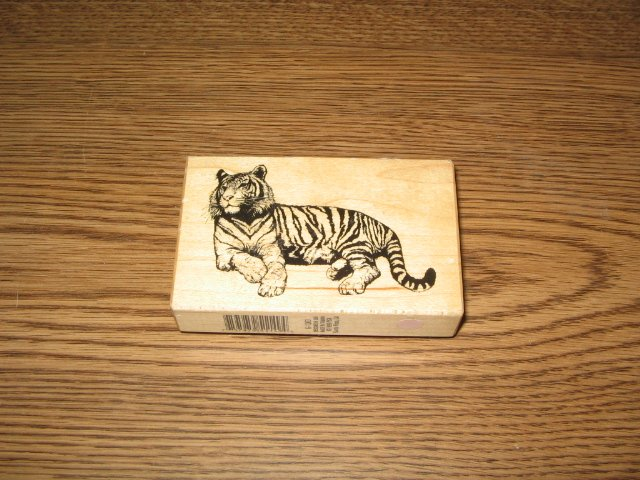 PSX Tiger Wood Mounted Rubber Stamp G-1263 Retired Collectible