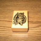 PSX Cat Wood Mounted Rubber Stamp ©1983 Retired Collectible