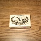 PSX Sleeping Dog Wood Mounted Rubber Stamp F-2596 Retired Collectible