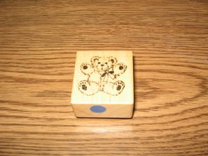 PSX Little Teddy Bear Wood Mounted Rubber Stamp C-625 Retired Collectible