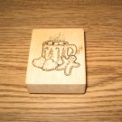 PSX Christmas Cookies & Cocoa Wood Mounted Rubber Stamp E-2733 Retired Collectible