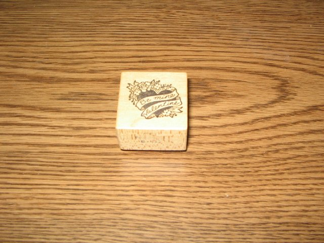 PSX Be Mine Valentine Wood Mounted Rubber Stamp B-135 Retired Collectible