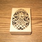 PSX Rose Easter Egg Wood Mounted Rubber Stamp F-1203 Retired Collectible