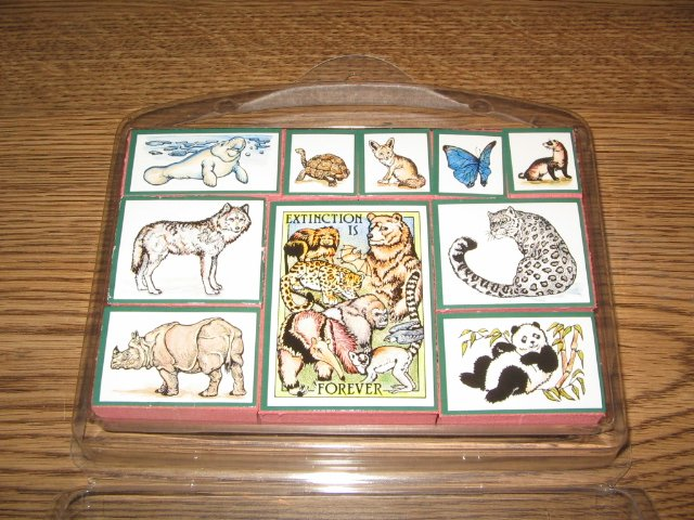 PSX Wild Animals Mounted Rubber Stamps Set Retired Collectible