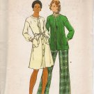 Vintage Sewing Pattern Misses' Dress Top Slightly Flared Pants 1970's Size 10 Butterick 3858 UNCUT