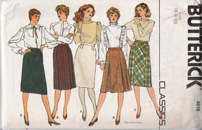 Vintage Sewing Pattern Misses' Straight Skirt Size 6-10 Butterick 4618 UNCUT
