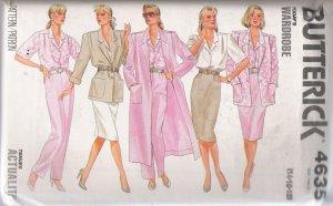Misses' Coat Jacket Skirt Pants Shirt Sewing Pattern Size 14-18 Butterick 4635 UNCUT