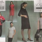 Misses' Maternity Top Dress Skirt Pants Sewing Pattern Size 18-22 Vogue 2818 UNCUT