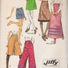 Vintage Sewing Pattern Misses' Jiffy Set Of Skirts & Pants 1971 Size 14 Simplicity 9516 UNCUT