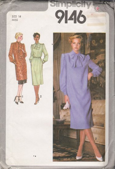 Vintage Sewing Pattern Misses' Dress Tunic Underskirt 1979 Size 14 Simplicity 9146 UNCUT