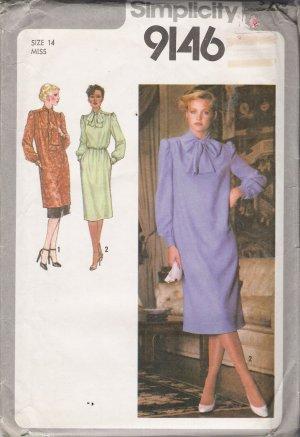 Vintage Sewing Pattern Misses' Dress Tunic Underskirt 1979 Size 14 Simplicity 9146 UNCUT