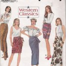 Misses' Set Of Mock-Wrap Skirts Sewing Pattern Size 6-10 Simplicity 8237 UNCUT