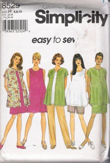 Maternity Shorts Dress Top Shirt Skirt Pants Shorts Sewing Pattern Size 6-10 Simplicity 8529 UNCUT