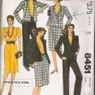 Misses' Jacket Top Skirt Pants Sewing Pattern Size 12 McCall's 8451 UNCUT