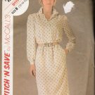 Misses' Dress & Tie Sewing Pattern Size 12-16 McCall's 9111 UNCUT