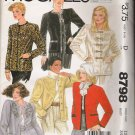 Misses' Jacket Sewing Pattern Size 12 McCall's 8798 UNCUT
