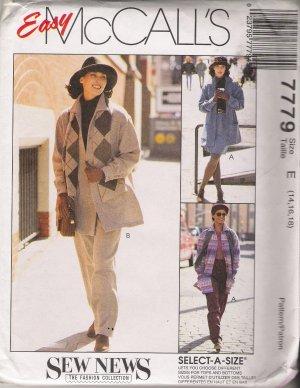 Misses' Jacket Pants Skirt Sewing Pattern Size 14-18 McCall's 7779 UNCUT