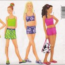 Girls' Top, Shorts, Wrap & Bag Sewing Pattern Size 12-16 Butterick 6617 UNCUT