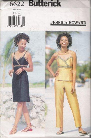 Misses' Top Dress Pants Sewing Pattern Size 6-10 Butterick 6622 UNCUT
