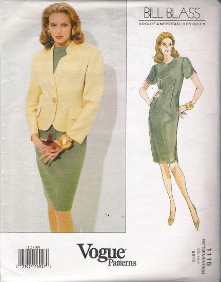 Misses' Jacket & Dress Sewing Pattern Size 6-10 Vogue 1115 UNCUT