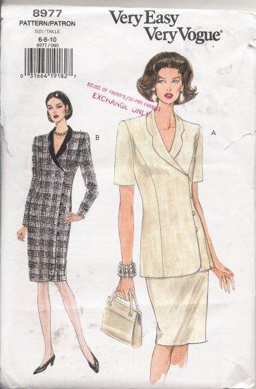 Misses' Dress Top Skirt Sewing Pattern Size 6-10 Vogue 8977 UNCUT