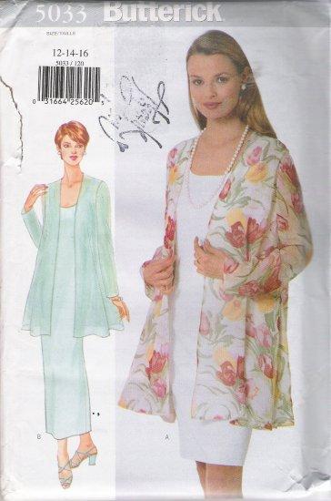 Misses' Jacket & Dress Sewing Pattern Size 12-16 Butterick 5033 UNCUT