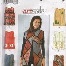 Misses' Vest Sewing Pattern Size L-XL Simplicity 8228 UNCUT