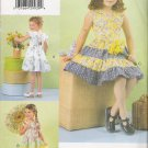 Girls' Dress Sewing Pattern Size 6-8 Vogue 7068 UNCUT