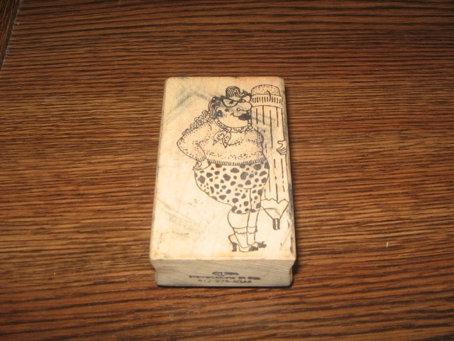 Odd Woman With Pencil Wood Mounted Rubber Stamp by Impressions In Inc