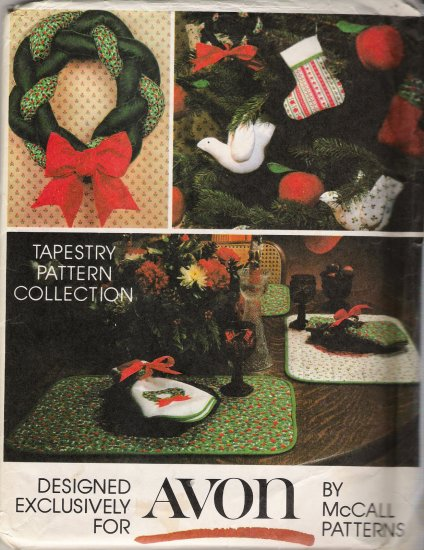 Vintage Sewing Pattern Avon Holiday Crafts McCall's 5380 UNCUT