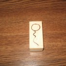 PSX Balloon Wood Mounted Rubber Stamp C-2267 Retired Collectible