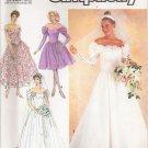 Misses' Wedding & Bridesmaids' Dress Sewing Pattern Size 14 Simplicity 8413 UNCUT