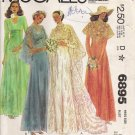 Vintage Sewing Pattern Misses' Bride & Bridesmaid Dress & Cape 1979 Size 8 McCall's 6895 UNCUT