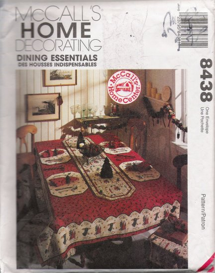 Dining Essentials Sewing Pattern McCall's 8438 UNCUT
