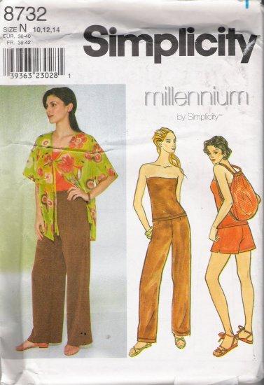 Misses' Jacket Pants Shorts Bag Top Sewing Pattern Size 10-14 Simplicity 8732 UNCUT