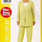 Women's Tunic & Pants Plus Size Sewing Pattern Size 22-26 Butterick 5912 UNCUT
