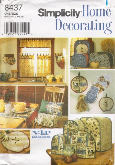 Kitchen Accessories Sewing Pattern Simplicity 8437 UNCUT