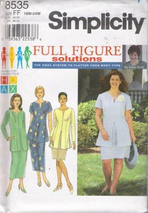 Women's Tunic & Skirt Sewing Pattern Size 18-24 Simplicity 8535 UNCUT